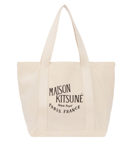 Kitsune Palais Royal Shopping Bag - Black/Ecru