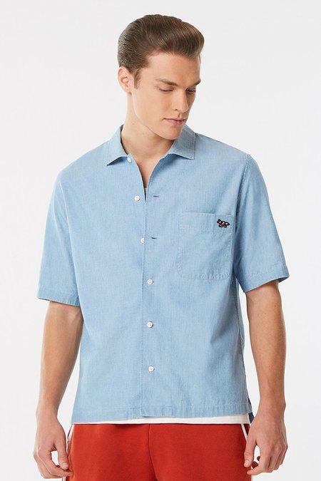 Maison Kitsune Short Sleeve Shirt - Chambray