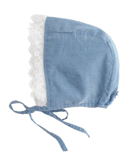 Kids Tocoto Vintage Blue Lace Bonnet