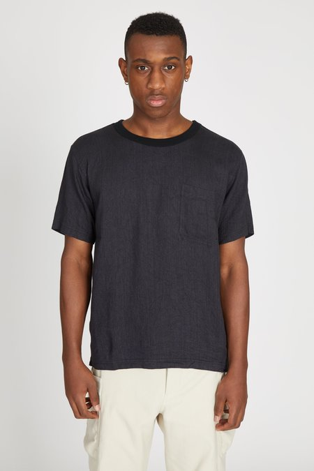 TS(S) Linen Viscose Twill Big Tshirt - Charcoal