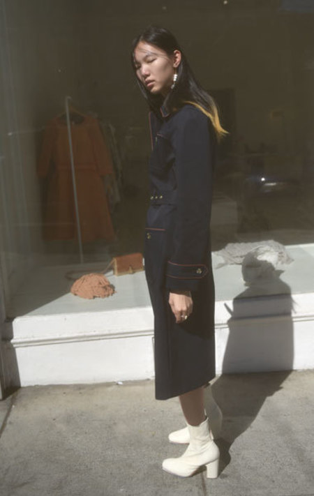 A.P.C. Pauline Trench - Navy