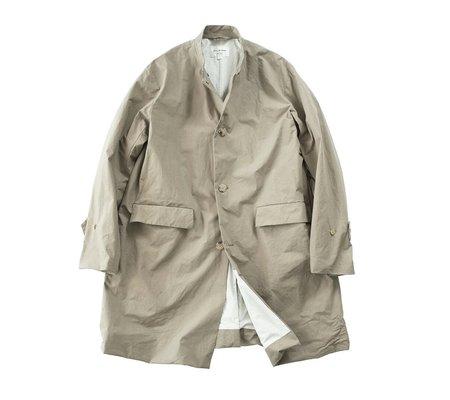 Still By Hand Stand Collar Coat - Beige