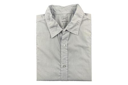 Save Khaki Easy Shirt - Yarn Dye Blue Line