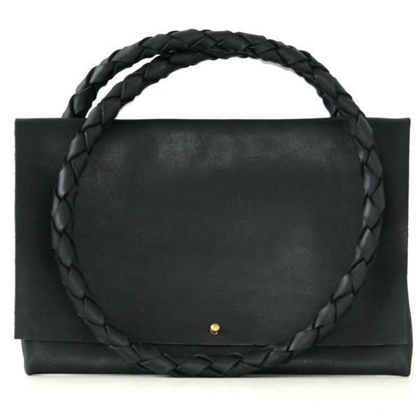 ARA Handbags Fold Over Shoulder Strap No. 1 (Black Oil Tanned)