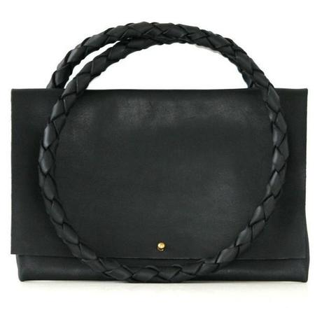 ARA Handbags Fold Over Shoulder Strap No. 1 (Black Oil Tanned)