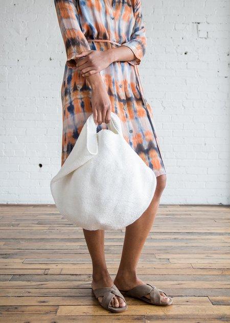 Lauren Manoogian Crochet Bowl Bag Optic White