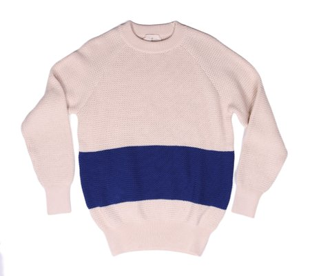 La Paz Rato Sweater - Ecru/Electric Blue