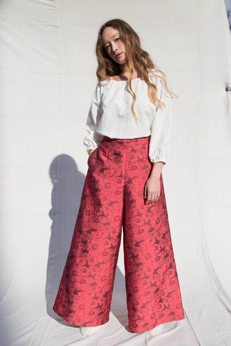 Nikki Chasin CLEM WIDE LEG TROUSER - CERISE