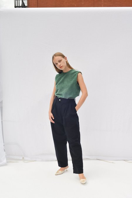 Nikki Chasin NOVAK SHELL TOP - SEA GREEN