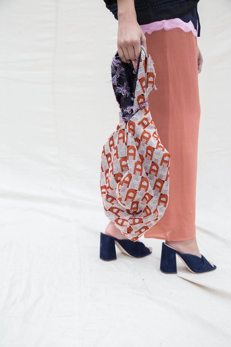 Nikki Chasin TOMA LOOP BAG - TASSEL / CROSS-STITCH