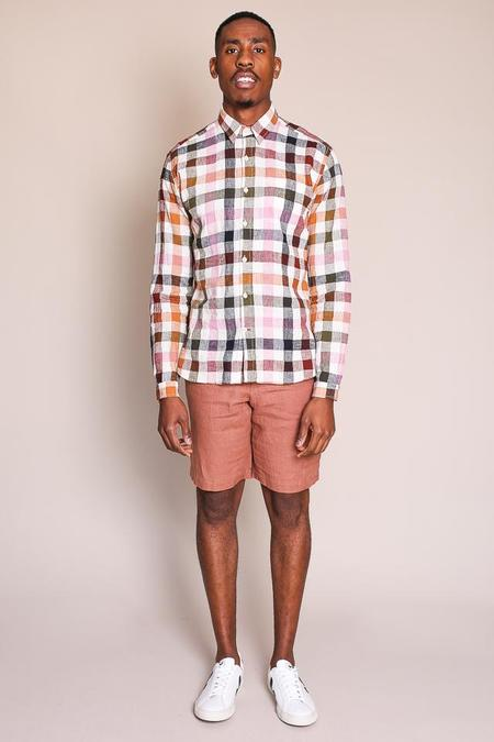 Oliver Spencer New York Special Shirt in Pink Multi