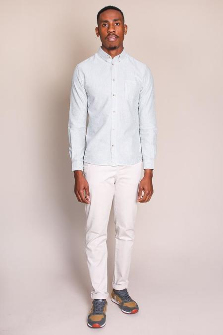 Cuisse de Grenouille Poche Shirt in Green/Optic White