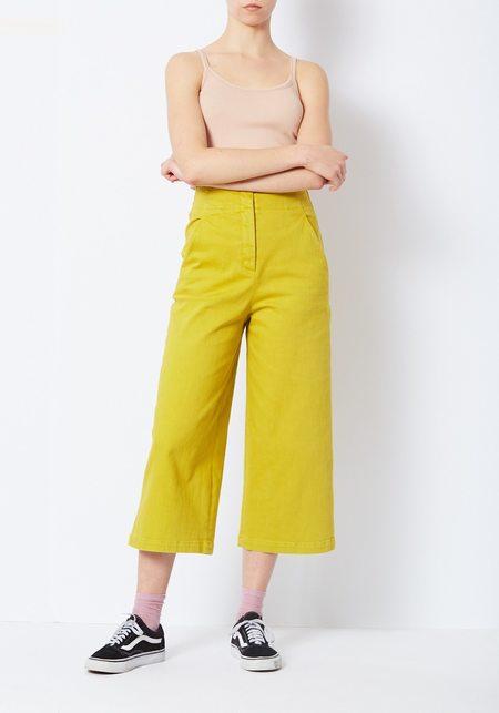 Tibi Mustard Cropped Jean