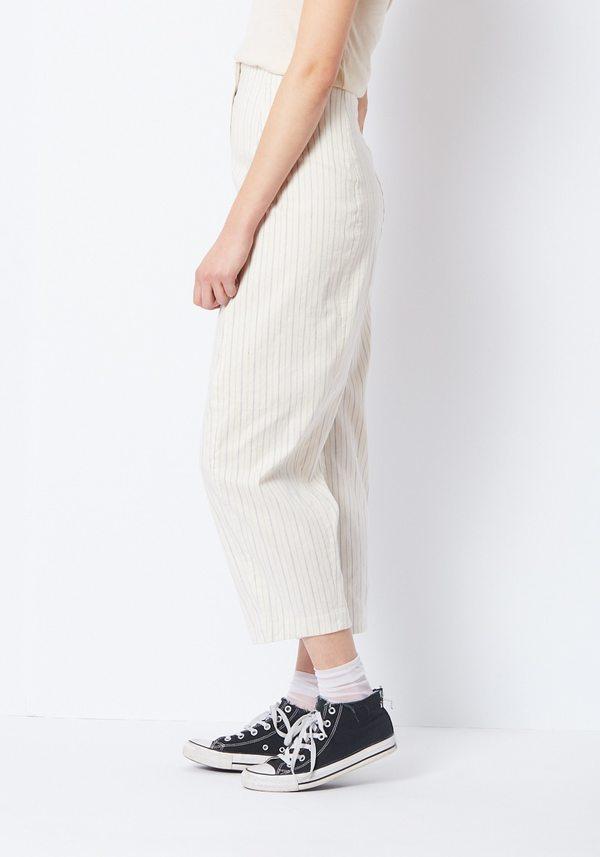 Creatures Of Comfort Striped Linen Crescent Pants