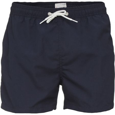 knowledge cotton apparel swim shorts solid in total eclipse