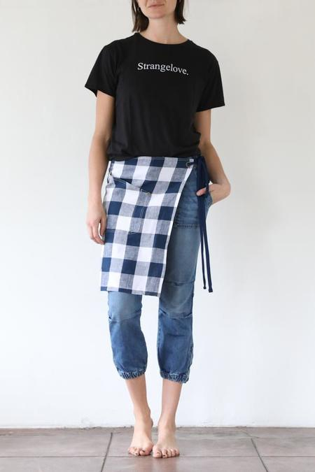 R13 Blue Check Apron