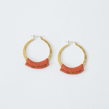 Crescioni Leather Kiva Earrings - Terra-cotta