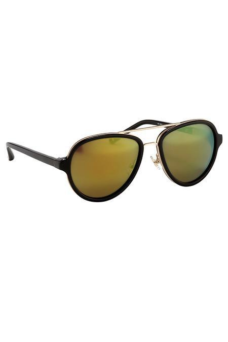 3.1 Phillip Lim Black Matte Gold with Multi Yellow Lenses
