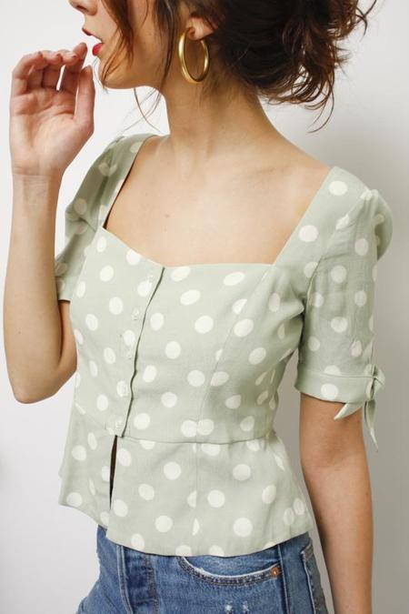 Capulet Lila Tie Sleeve Blouse - Polka Dot