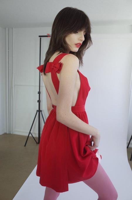 L'ecole Des Femmes L'ecole Des Femmes Bow Backless  Dress