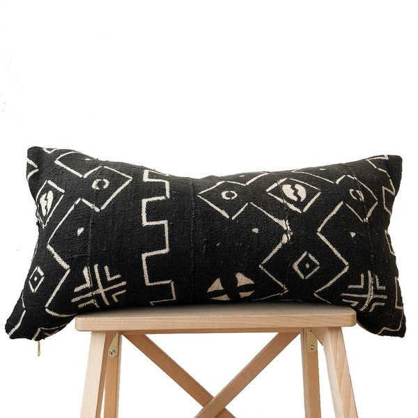 Valiente Goods Lumbar Mud Cloth Pillow No.07