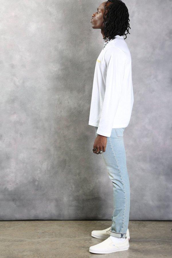 Helmut Lang Cut Neck Long Sleeve Shirt