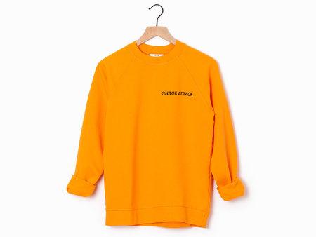 Ganni Snack Attack Sweatshirt - Orange