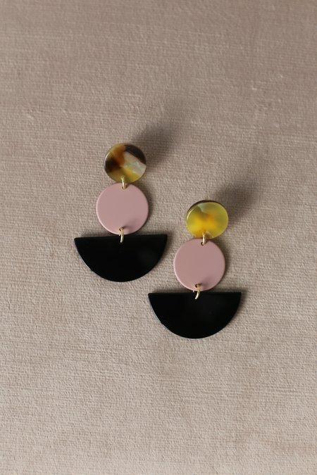 Rachel Comey Neale Earrings - Pink/Black