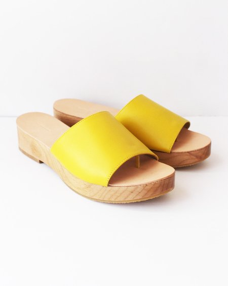 The Palatines Emano Flatform Sandal - Curry