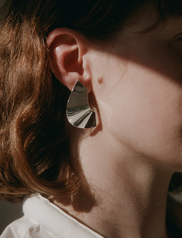 Medley Institute Crescent Wave Line Earrings