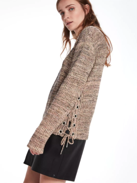 Maison Scotch Lattice Side Knit