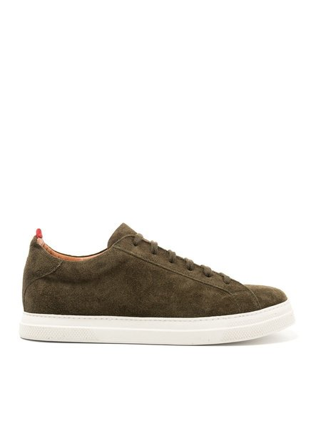 Oliver Spencer Ambleside Low-Top Suede Shoe in Moss