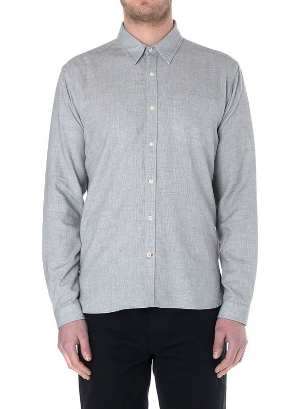 Oliver Spencer New York Shirt in Bailey Grey
