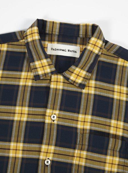 Universal Works Check Shirt - Gold/black