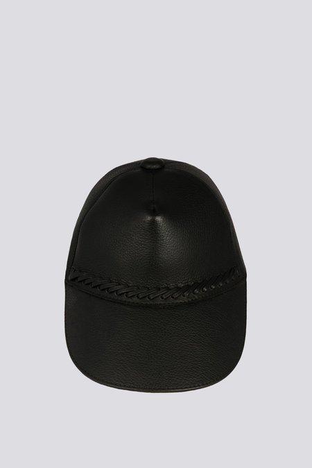 Paxa Leather Cap - Obsidian