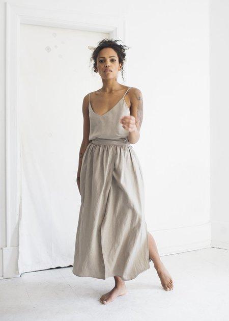 Ozma Georgia Wrap Skirt in Stucco