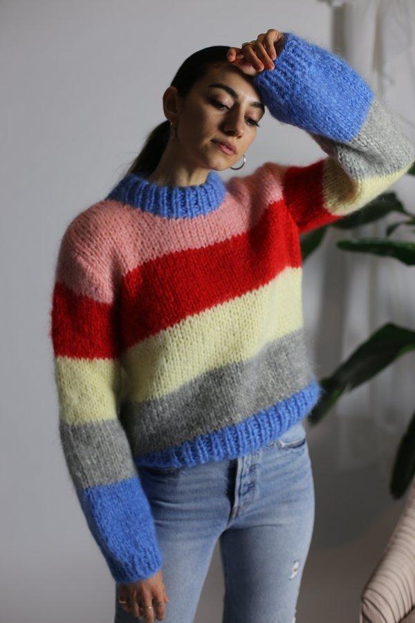 Ganni Julliard Mohair Pullover - Block Colour