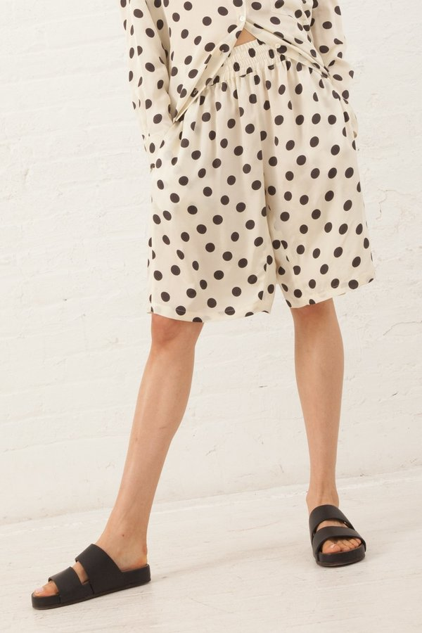 Hache Polka Dot Shorts - Ivory/Black