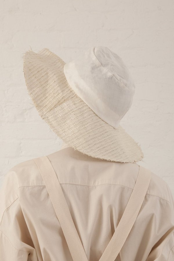 Reinhard Plank Viscose Straw Tom Hat - White