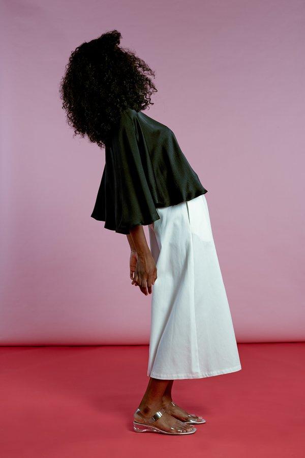 Wolcott : Takemoto Knavish Culotte In White Cotton