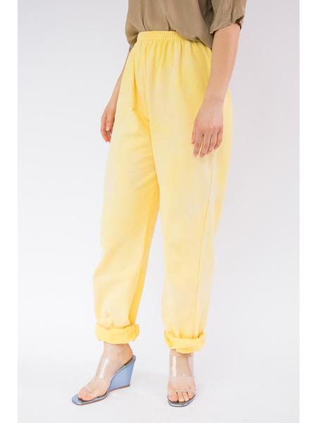 Audrey Louise Reynolds Organic Cotton Sweatpants - Yellow