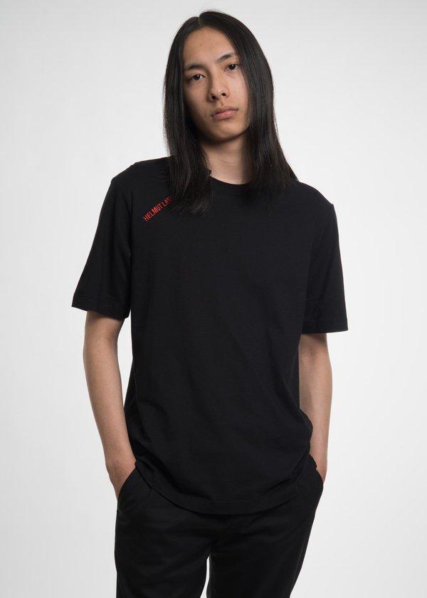 Helmut Lang Black Cut Neck T-Shirt