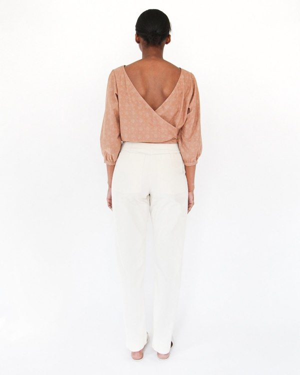 Esby Marie Prarie Blouse - pecan