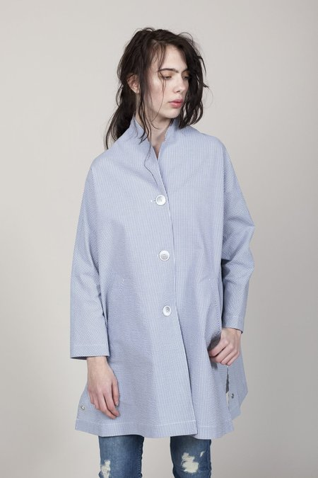 Pret Pour Partir Opium Rain Coat - Tennis Blue Stripe