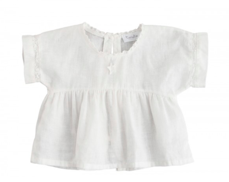 Kids Tocoto Vintage Baby White Tie Blouse