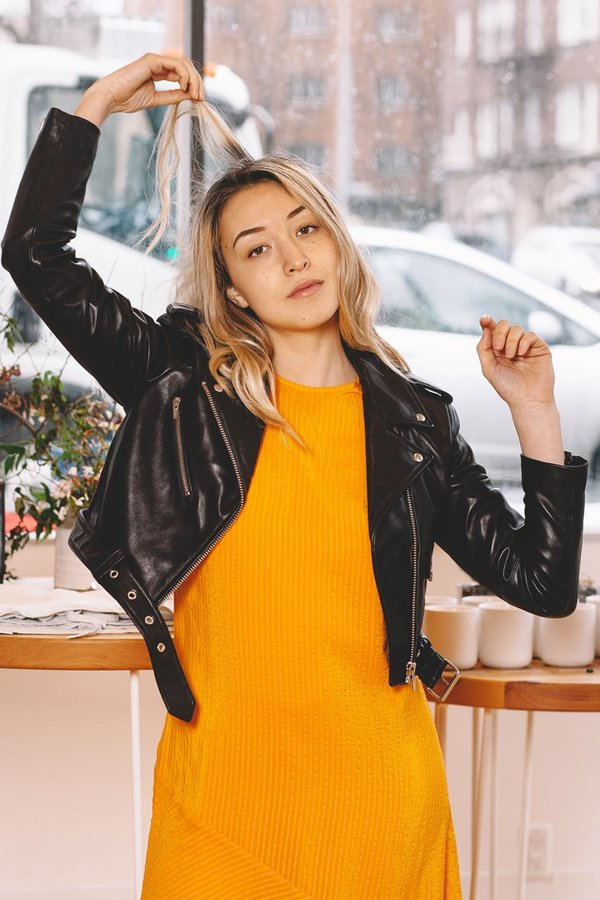 Veda Baby Jane Leather Jacket - Black