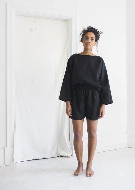 Lloyd Linen Short in Black