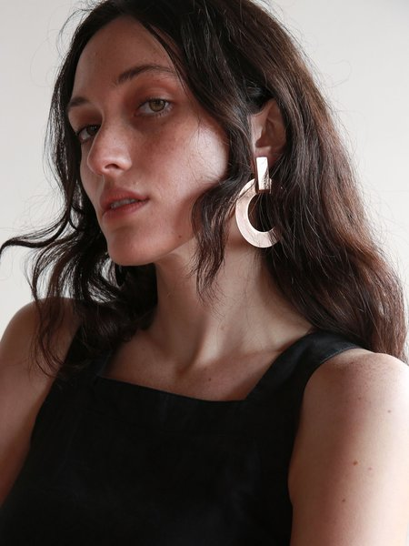 Minoux Open Circle Modular Earrings