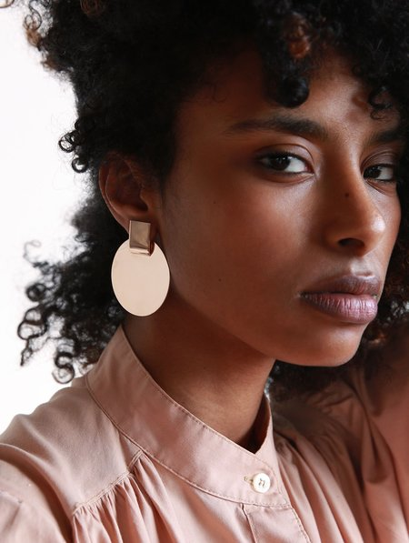 Minoux Suspended Disc Modular Earrings