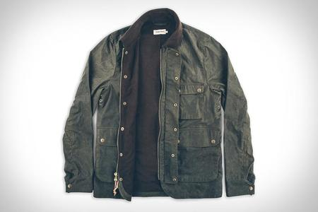 Taylor Stitch The Rover Jacket in Dark Olive Waxed Cotton